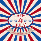 Vector Happy 4th of July background. Independence Day festive design. Stock Photo