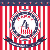 Vector Happy 4th of July background. USA Independence Day. Stock Photography