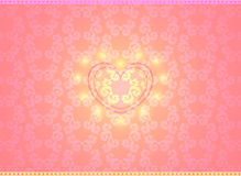 Vector Happy Valentine background. With heart in center Stock Image