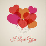 Vector Happy Valentine's card with hearts Stock Photos