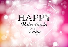 Vector Happy Valentine`s card Royalty Free Stock Images