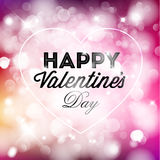 Vector Happy Valentine's card Royalty Free Stock Photography