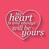 Vector Happy Valentine's card Stock Image