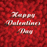 Vector Happy Valentine& x27;s Day concept. With  red hearts on red background Stock Photography