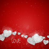 Vector Happy Valentine`s Day greeting card Royalty Free Stock Images