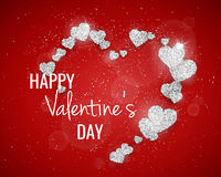 Vector Happy Valentine`s Day greeting card Stock Photography