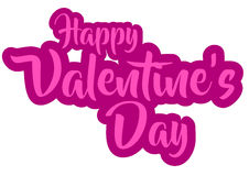 Vector happy valentine`s day. Qoutes with background white Stock Photography