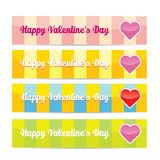 Vector Happy valentines day banner set Stock Photos