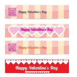 Vector Happy valentines day banner set Stock Images