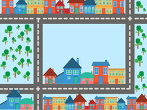 Vector Happy Village background Royalty Free Stock Photos