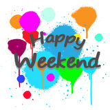 Vector happy weekend with background full color. Vector image happy weekend with background full color Stock Photography