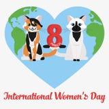 Vector Happy Women's Day Royalty Free Stock Photos