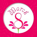 Vector Happy Womens Day. 8 March Royalty Free Stock Images