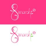 Vector Happy Womens Day. 8 March Royalty Free Stock Photos