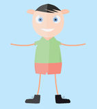Vector happy young boy Royalty Free Stock Images