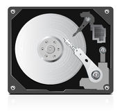 Vector of hard disk Royalty Free Stock Photography