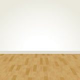 Vector Hardwood Floor and Blank Wall Stock Photo