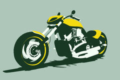 Vector harleycustom bike front Royalty Free Stock Image