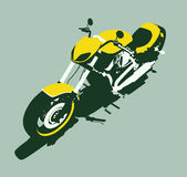 Vector harleycustom bike front royalty free illustration