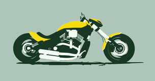 Vector harleycustom bike side Royalty Free Stock Image