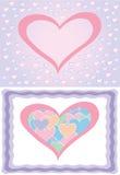 Vector hartenachtergronden stock illustratie