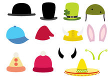 Vector hats Stock Photography