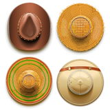 Vector Hats Set Stock Image