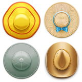 Vector Hats Set 2 Royalty Free Stock Photos