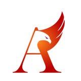 Vector Hawk Initial anaranjado un logotipo Foto de archivo libre de regalías