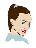 Vector head. Vector illustration of nice girl vector illustration