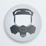 Vector head gas mask signs Stock Photo