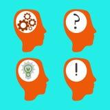 Vector head idea silhouette Stock Photos