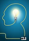 Vector head line with light bulb modern design tem Stock Photography