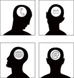 The vector head symbol set Royalty Free Stock Photography