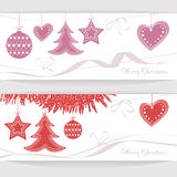Vector header Christmas Background Royalty Free Stock Photography
