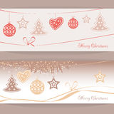Vector header Christmas Background Stock Images