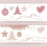 Vector header Christmas Background Stock Photography