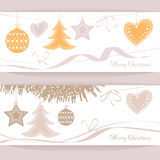 Vector header Christmas Background Stock Photo