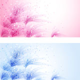Vector header with flowers Royalty Free Stock Photo