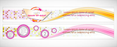 Vector Header Horizontal Web Menu Design. Stock Photography