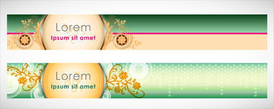 Vector Header Horizontal Web Menu Design. Royalty Free Stock Photos