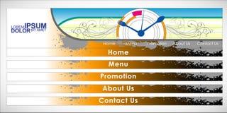 Vector Header Horizontal Web Menu Design. Stock Image