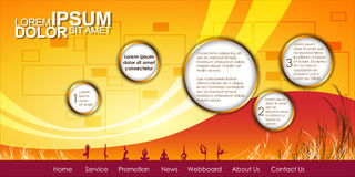 Vector Header Horizontal Web Menu Design. Stock Images
