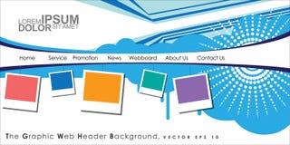 Vector Header Horizontal Web Menu Design. Stock Photos