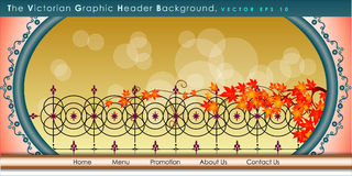 Vector Header Horizontal Web Menu Design. Stock Photography