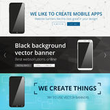 Vector header set Royalty Free Stock Image