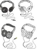 Vector headphone Stock Photos