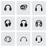 Vector headphone icon set Stock Photo