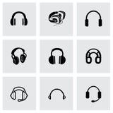 Vector headphone icon set Stock Photo