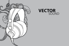 Vector headphones Royalty Free Stock Photos